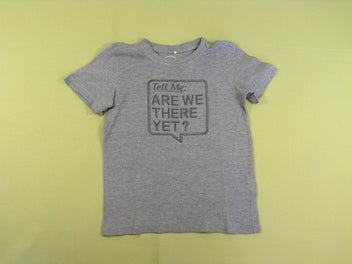 T-shirt m.c gris chiné « Tell me : Are we there yet ? »
