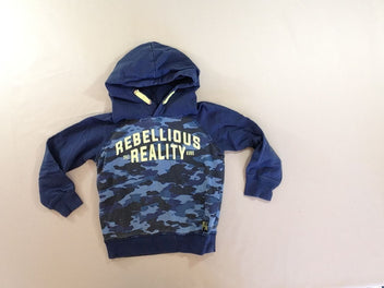 Sweat à capuche bleu camouflage Rebellious Reality
