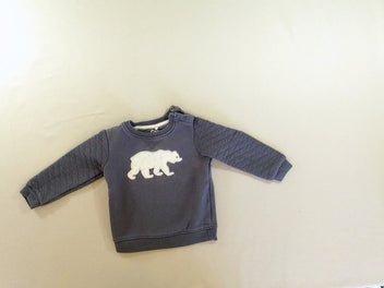 Sweat bleu ours polaire
