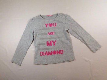 T-shirt m.l gris chiné « You are my diamond »