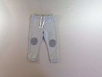Pantalon de jogging molleton gris chiné