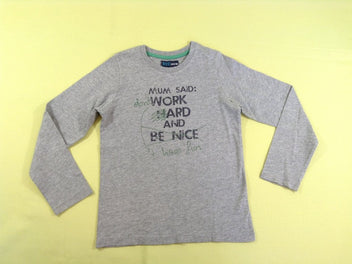 T-shirt m.l gris chiné « Mum said : don't work and have fun »