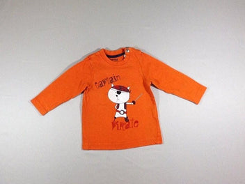 T-shirt m.l orange chat captain pirate