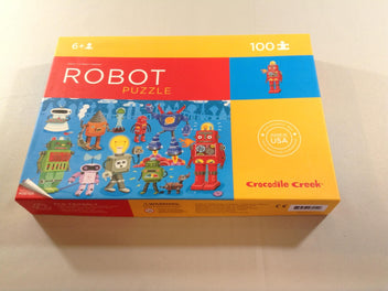 Puzzle Robot, 100 pcs Crocodile Creek, +6a