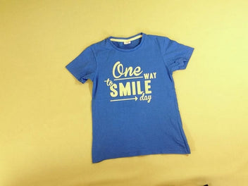 T-shirt m.c bleu Smile