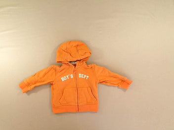 Sweat zippé à capuche orange Boy's dept