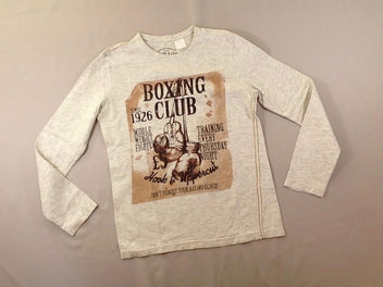 T-shirt m.l écru/gris chiné Boxing Club