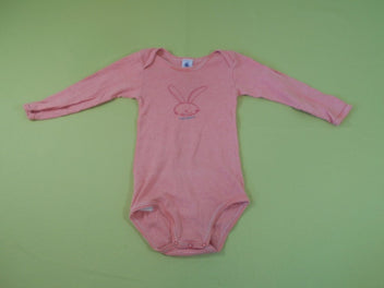 Body m.l rayé rose/orange lapin