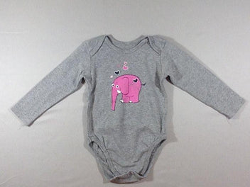 Body m.l gris chiné éléphant rose