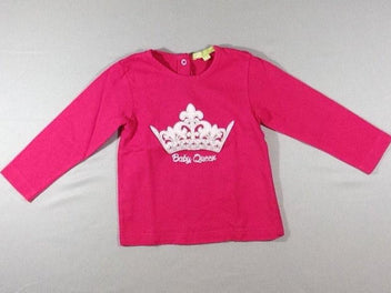T-shirt m.l rose vif couronne