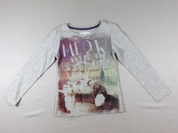 T-shirt m.l gris chiné chat NY