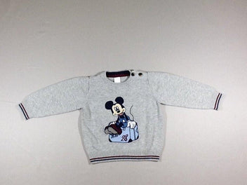 Pull gris chiné Mickey