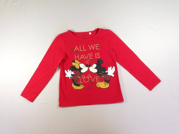 T-shirt m.l rouge Minnie Mickey