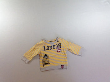 T-shirt m.l gris rayé jaune London