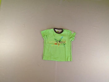 T-shirt m.c vert flammé Little surfer