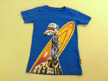 T-shirt m.c bleu girafe surf, Stones and Bones