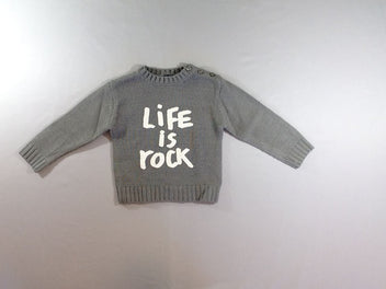 Pull gris Life