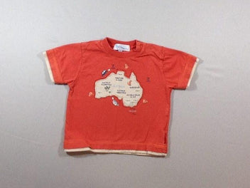 T-shirt m.c orange/beige Australie