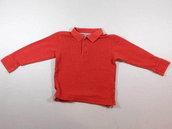 Polo m.l orange foncé