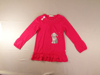 Robe-tunique m.l jersey rose vif lapin