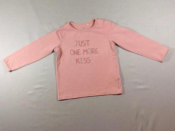 T-shirt m.l rose « Just one more kiss »