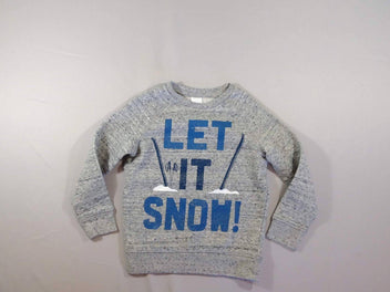 Sweat gris chiné Let it snow