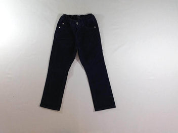 Pantalon velours côtelé bleu marine regular fit