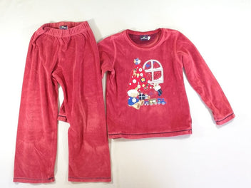Pyjama 2pcs velours rouge Noël