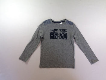 T-shirt m.l gris chiné Game