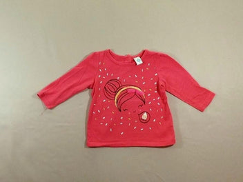 T-shirt m.l rose vif fille cupcake