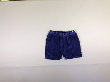 Short velours bleu