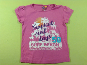 T-shirt m.c mauve tropical