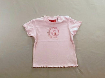 T-shirt m.c rose strass et sequins