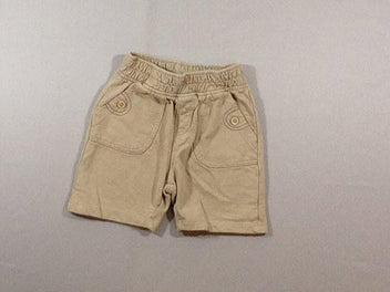 Short molleton beige