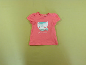 T-shirt m.c rose saumon Just cute