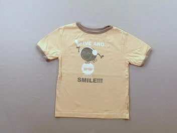 T-shirt m.c jaune/gris smiley