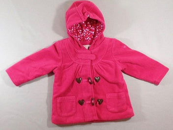 Veste polar rose vif