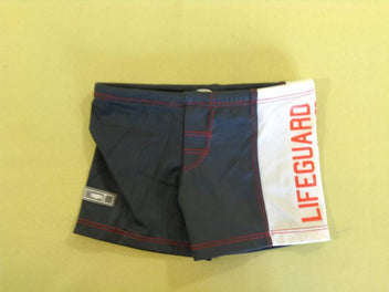 Maillot boxer gris/blanc/rouge