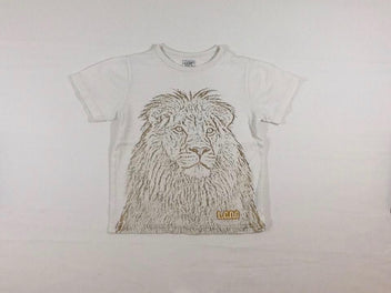 T-shirt m.c blanc flammé lion
