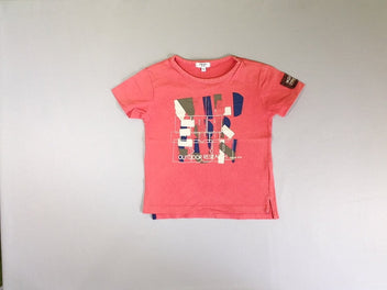 T-shirt m.c orange/ rose outdoor