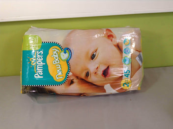 NEUF paquet de 45 Pampers New baby, taille 2 (3-6kg)