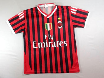 Maillot foot rayé rouge/noir Fly Emirates – Ibrahimovic