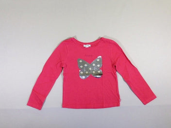 T-shirt m.l rose papillon sequins réversibles