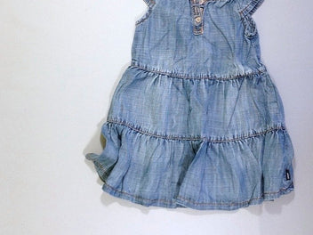 Robe s.m denim volant