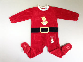 Pyjama velours rouge Winnie l'ourson
