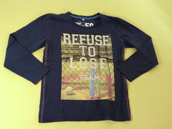 T-shirt m.l bleu marine Refuse to loose