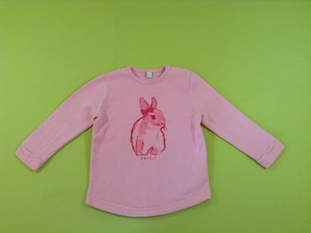 Sweat rose lapin