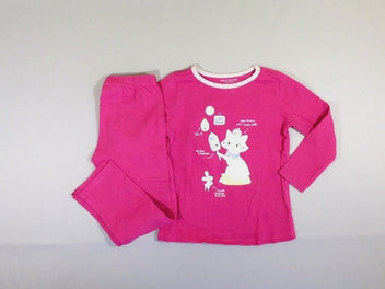 Pyjama 2pcs jersey rose chat souris