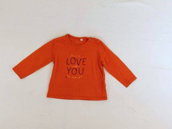 T-shirt m.l orange « I'm so in love with you »