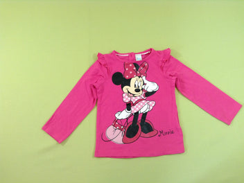 T-shirt m.l rose vif Minnie